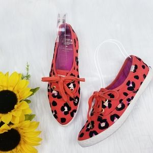 Kate Spade x Keds Pointed Leopard Print Sneakers